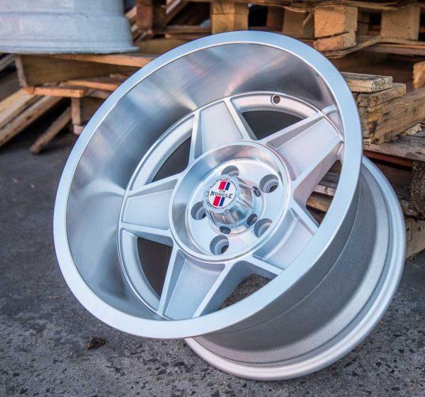 globe bathurst silver machined wheels drag muscle car