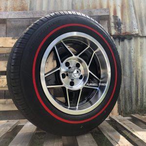 15 globe black machined wheels drag muscle old school