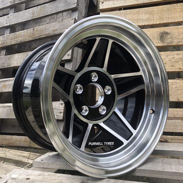 15x10 challenger black old school muscle car drag wheels