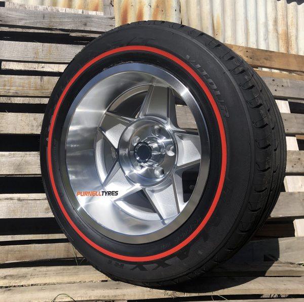 15x10 globe silver old school muscle ford wheels