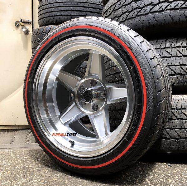 "17x10"" challenger globe muscle drag old school wheels"
