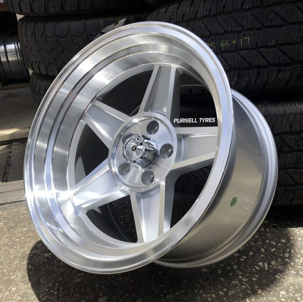 17x10 challenger silver old school muscle drag car