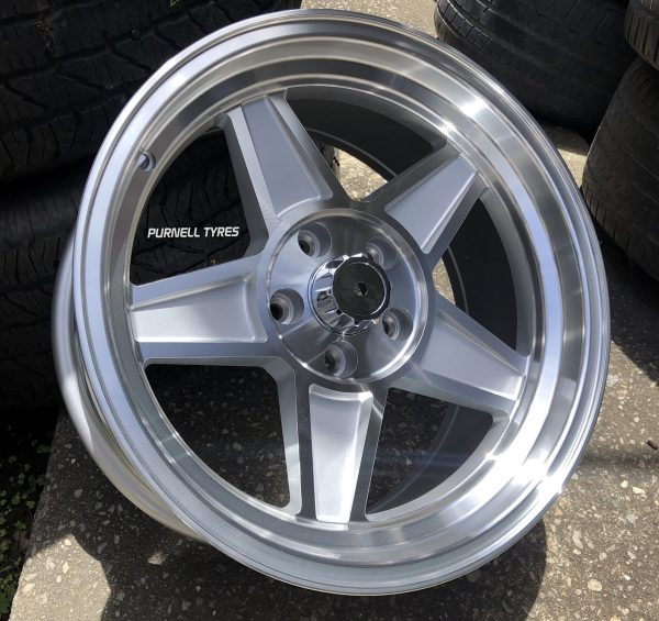 17x8 challenger silver old school muscle drag car