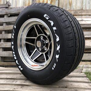15x10 black challenger old school muscle drag car wheels