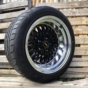 17x10 v51 simmons black deep dish old school muscle drag car wheels