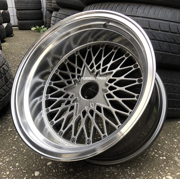 17x10 formula mesh gunmetal old school muscle car drag jdm wheels