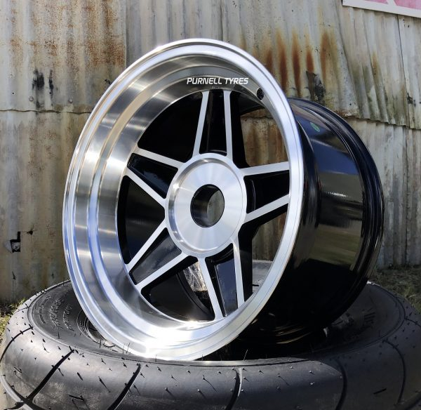 17x10 black challenger globe wheels old school drag muscle car
