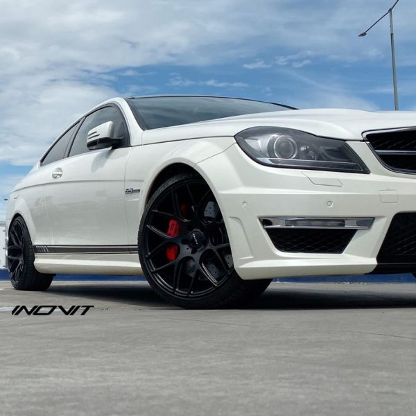 inovit thrust satin black wheels deep concave